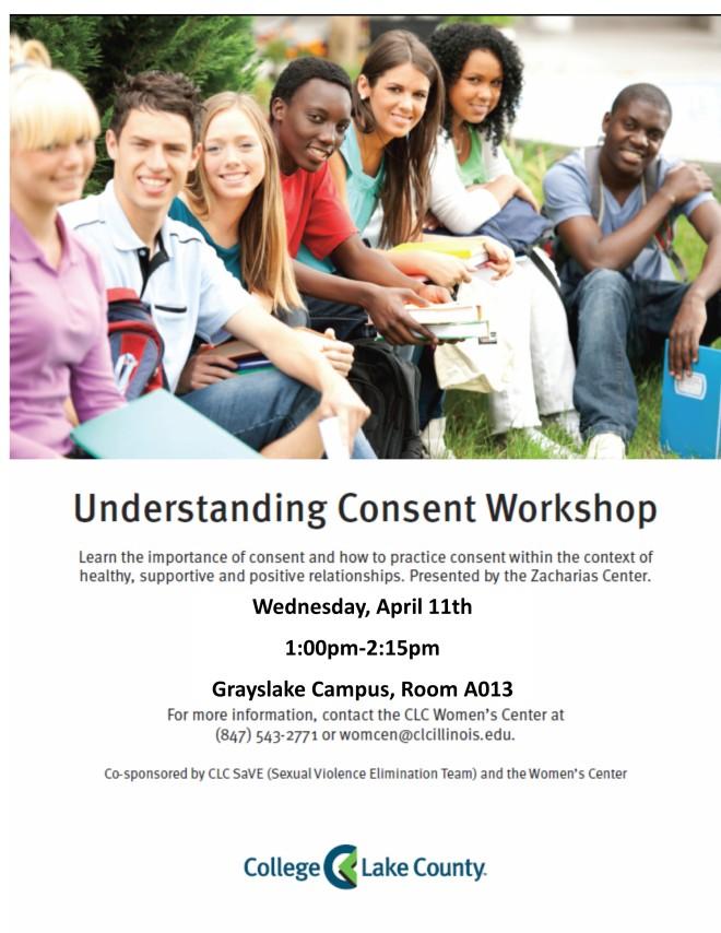 Understanding Consent Workshop Flyer