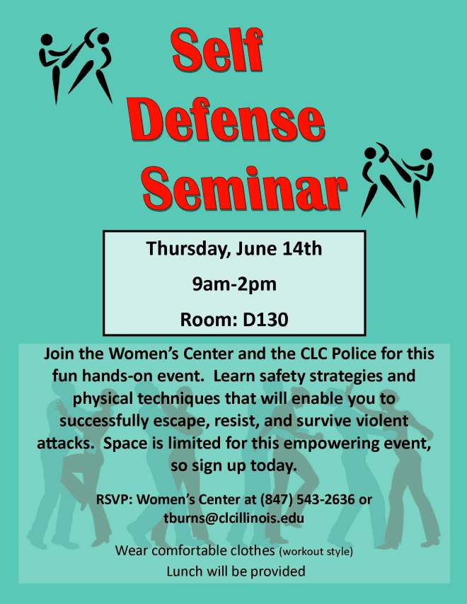 Self Defense Seminar Flyer
