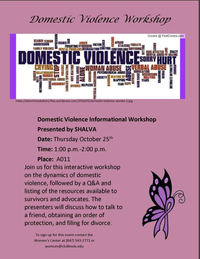 Domestic Violence Workshop Flyer